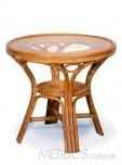 Стол обеденный Calamus Rotan 0209 A коньяк