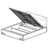 МЕРС Кровать LOZ/160 с подъемным механизмом Гербор